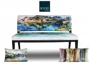 panorama bench and cushions